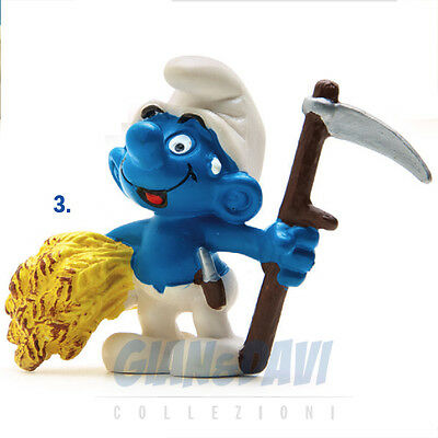 PUFFO PUFFI SMURF SMURFS SCHTROUMPF 2.0145 20145 Haymaker Puffo Agricoltore 3A