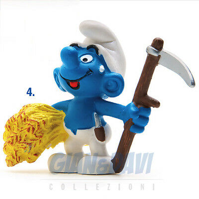 PUFFO PUFFI SMURF SMURFS SCHTROUMPF 2.0145 20145 Haymaker Puffo Agricoltore 4A