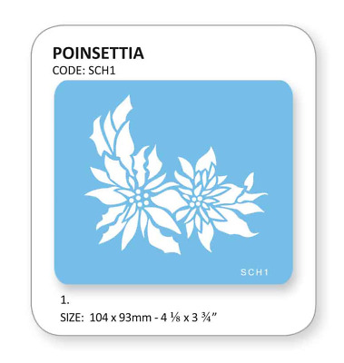 JEM POINSETTIA Flower Cake Decorating Stencil Sugarcraft Decoration Baking