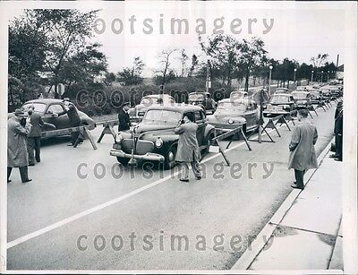 1945 Chicago Police Screen Vintage Autos Outer Drive Press Photo