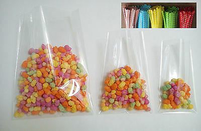 Clear Cellophane Cello Display Party Bags For Lollipops Sweets - *top Quality*