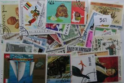 Global stamp packet. 100 Different stamps from 100 different countries.(561)