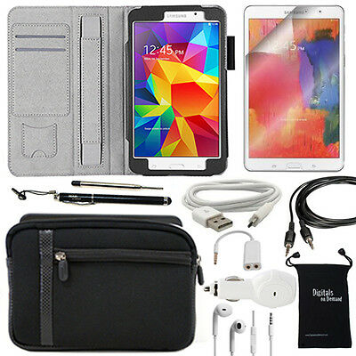 10-Item Accessory Bundle for Samsung Galaxy Tab 4 7.0 - Case and Chargers