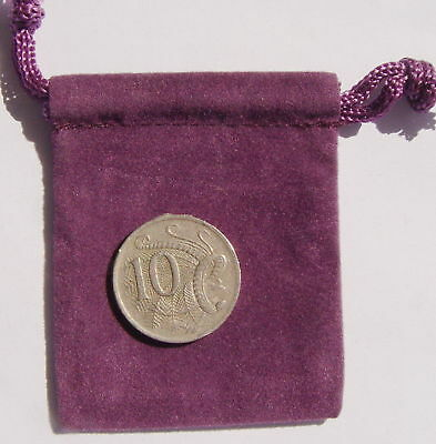 """TINY PURPLE VELVETEEN BAG (2""""x 2"""") Wicca Witch Pagan Goth Reiki New Age Spell"""