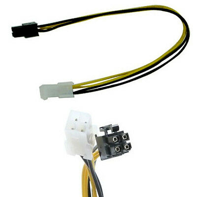 12 inch ATX12V 4 Pin 12v P4 CPU Power Supply Extension Cable