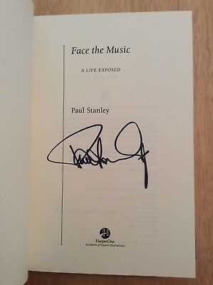 SIGNED by Paul Stanley Face the Music A Life Exposed HC 1st/1st Pic KISS Starman
