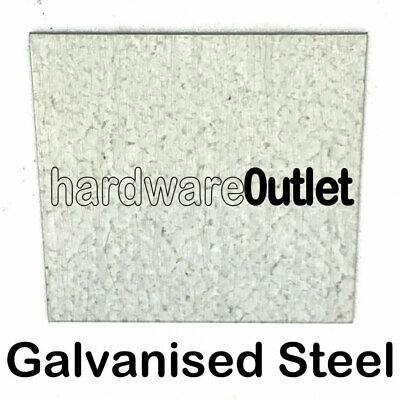 GALVANISED STEEL Sheet Plate 0.9 1.2 1.5 2.0 3.0 mm x 22 Pre Cut Sizes
