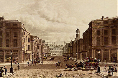 REGENT STREET AND PICCADILLY by Klitz; PRINT