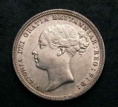 1887 Victoria Young Head Sixpence Cgs Uk Graded 65  High Grade Coin