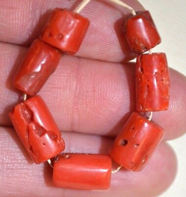 Antique Red Coral Beads From Nigeria Via African Trade