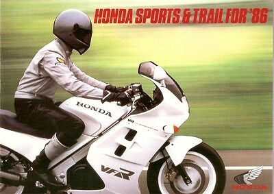 Motorcycle Brochure - Honda - Sports Trail for 1986 (DC12)