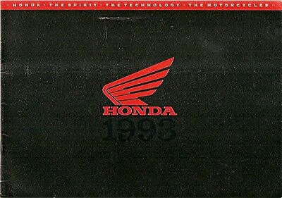 Motorcycle Brochure - Honda - Product Line Overview - 1992 printing (DC19)