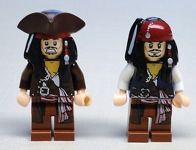 x2 NEW Lego Jack Sparrow Minifigs Pirates of the Caribbean 4195 4194 4183