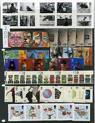 Commemoratives - GB 2001 - 2002 Individual Commemorative Sets MNH Multi Listing