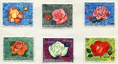Lot Serie Timbre  Emirats  Rose