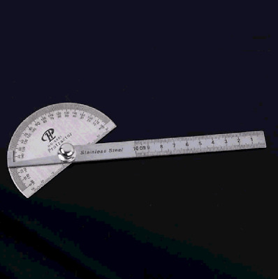 Stainless Protractor Angle Finder Craftsman Rule Ruler Machinist Tool 0-100MM