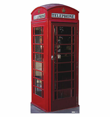 English Style Phone Booth Lifesize Standup Standee Cardboard Cutout Poster #698