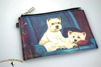 Westie Dog Bag Zippered Pouch Travel Makeup Coin Purse