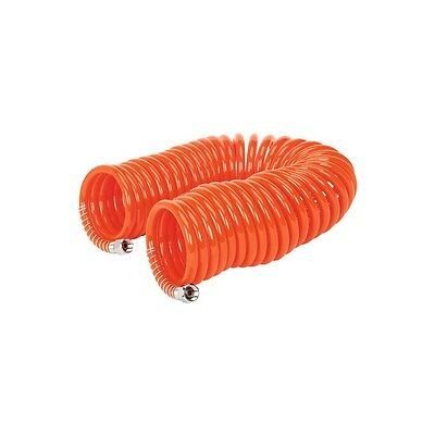 """Sealey AH10C/6 Compressor Coiled Air Line Hose 1/4 """" Inch 10 M Metre Meter Coil"""