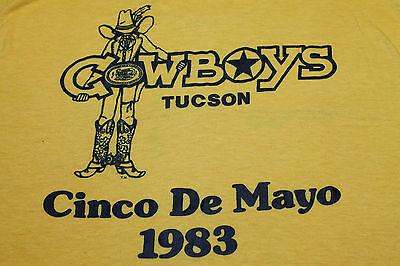 2XS * vtg 80s 1983 CINCO DE MAYO tucson arizona COWBOYS t shirt * 43.76 xxs