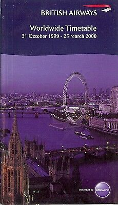 Airline Timetable - British Airways - 31/10/99 - London Eye cover