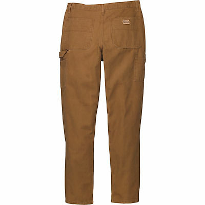 Gravel Gear Heavy-Duty Carpenter-Style Work Pants 38in Waist x 34in inseam Brown