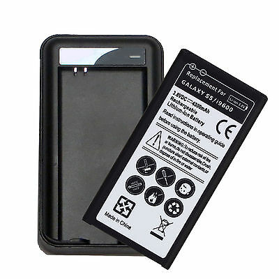 4300mAh battery + USB Charger For Samsung Galaxy S5 i9600