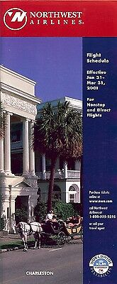 Airline Timetable - Northwest - 31/01/01 - Charleston Cover