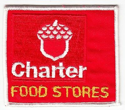 CHARTER FOOD STORES - Vintage GROCERY STORE PATCH