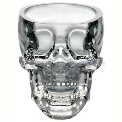 73ml Crystal Skull Head Vodka Whiskey Wine Glass Cup Home Bar Shot Drinking Ware
