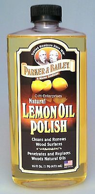 Parker & Bailey Natural Lemon Oil Polish 16 oz