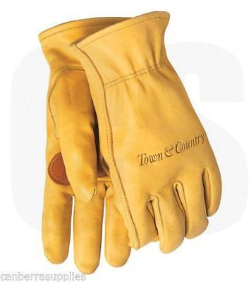 Town & Country Elite Superior Leather Gardening Gloves - Mens - Medium Tgl419M