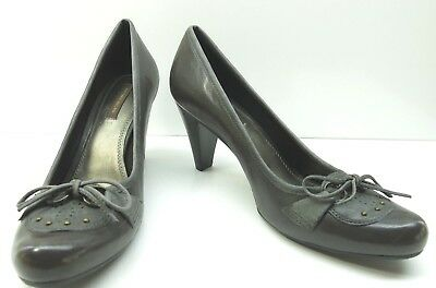 c9308bf92bf Antonio Melani Brown Leather Tie Stud Dress Pumps Heels 9M 9 NEW MSRP  89