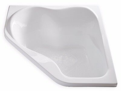 "Carver Tubs CK5959 59"" x 59"" White Soaking Corner Bathtub with Head Support"