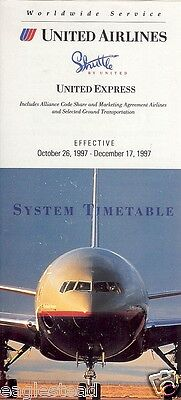 Airline Timetable - United - 26/10/97