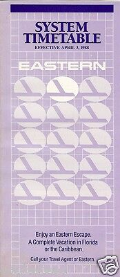 Airline Timetable - Eastern - 03/04/88