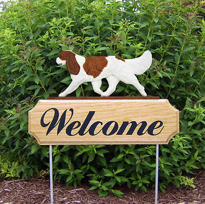 Cavalier King Charles Spaniel Dog Breed Oak Wood Welcome Outdoor Yard Sign Blenh