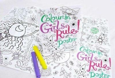 Eggnogg Craft Activity For Girls - Colour-in Girls Rule Poster