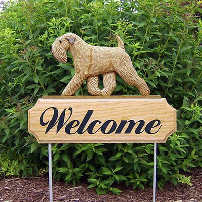 Soft Coated Wheaten Wood Welcome Outdoor Sign