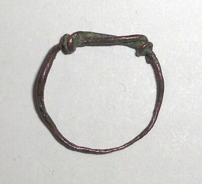Ancient Celtic, 300 - 200 BC. Bronze Twisted Wire Ring