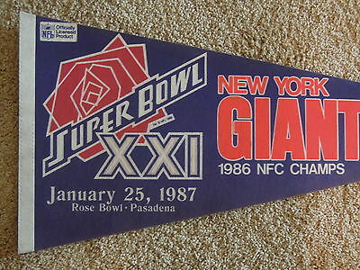1986 New York Giants Football NFC Champions Full Size Pennant