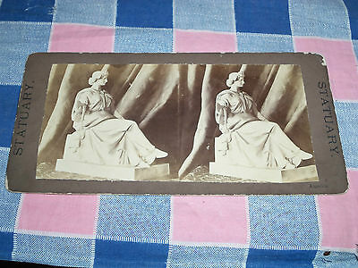 Old Stereoview Statuary America