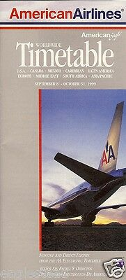 Airline Timetable - American - 08/09/99