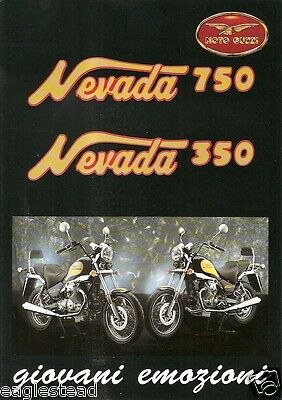 Motorcycle Brochure - Moto Guzzi - Nevada 350 750 - 1994 (DC26)