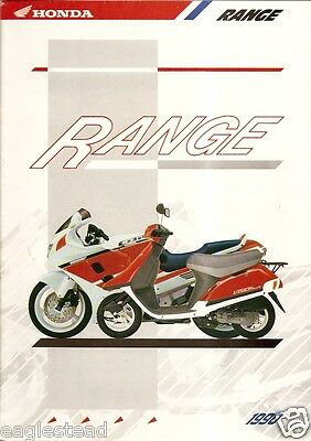 Motorcycle Brochure - Honda - Product Line Photos - 29 Models - 1990 (DC45)