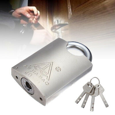 New 40mm Heavy Duty Closed Shackle High Security Solid Steel Lock Padlock