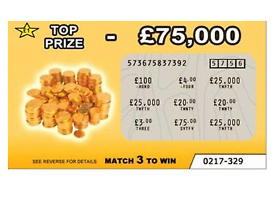 2 Fake lottery scratch cards scratchcards (DESIGN 2)