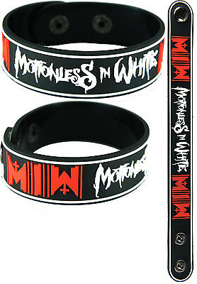 MOTIONLESS IN WHITE  NEW! Bracelet Wristband aa143 Black/Infamous