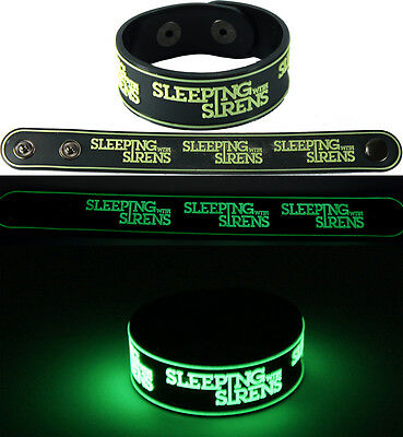 SLEEPING WITH SIRENS  Bracelet Wristband gg97 Glow in the Dark Free Shipping