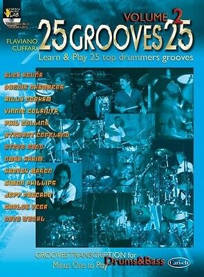 25 Grooves 25, Volume 2; Book, CD- Drums, English, ML2656 - 9788850710812